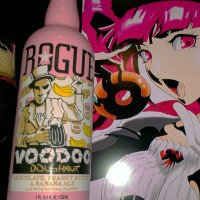 Chocolate, Peanut Butter & Banana Ale Voodoo Doughnut by Rogue Brewing