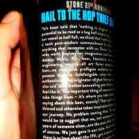 Stone 21st Anniversary Hail To the Hop Thief Double IPA by Stone Brewing